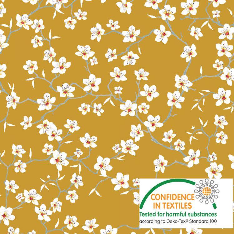 Coton Fleur japonaise safran