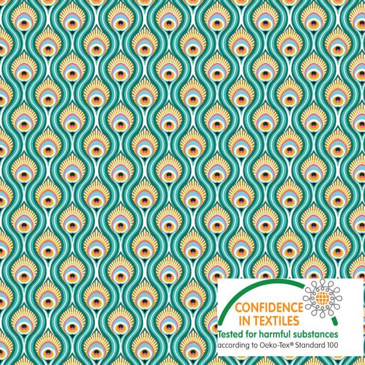 Coton Paon vert