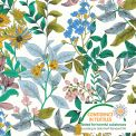 Coton Fleur glycine fond blanc