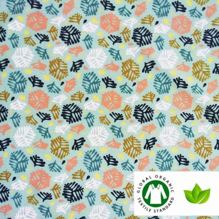 Jersey coton BIO imprimé fougère