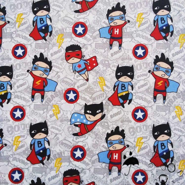 Tissu enduit imprimé super-héros