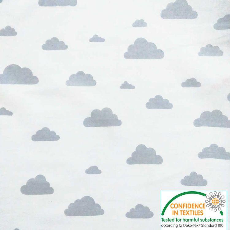 Coton imprimé nuage