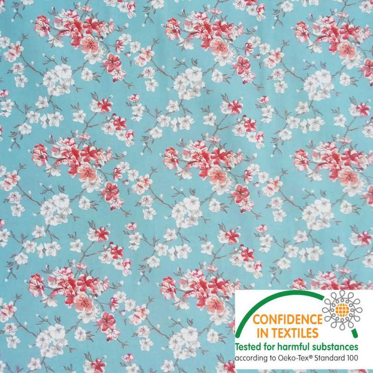 Coton Flower japonaise turquoise