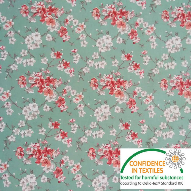 Coton Flower japonaise vert d'eau