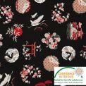 Coton Ambiance japonaise noir