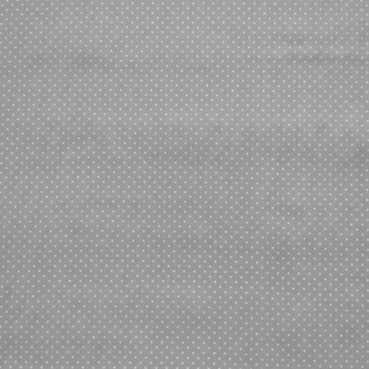 Coton petit pois fond gris