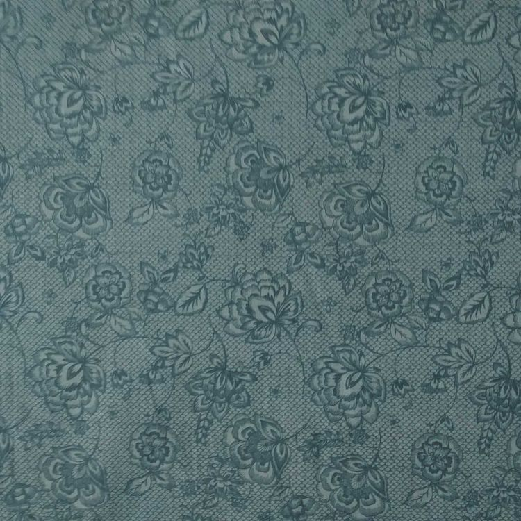 Coton dentelle bleu vert