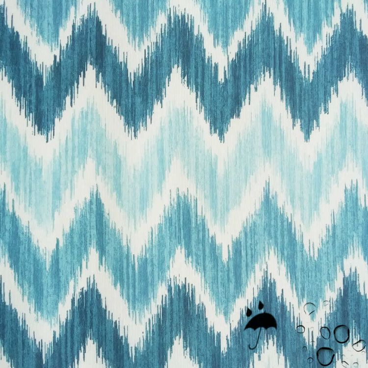 Tissu enduit Mallorque turquoise