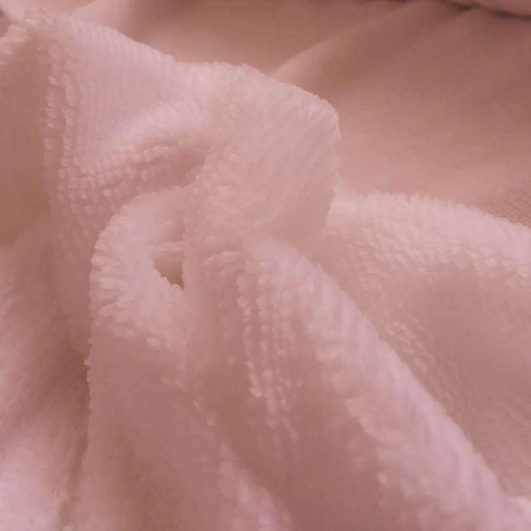 Tissu peluche bambou maquillage