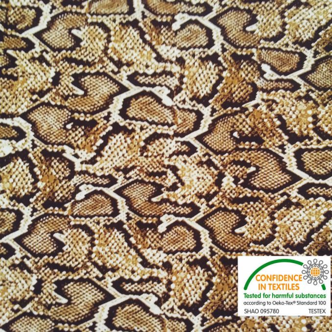 Lycra Serpent marron