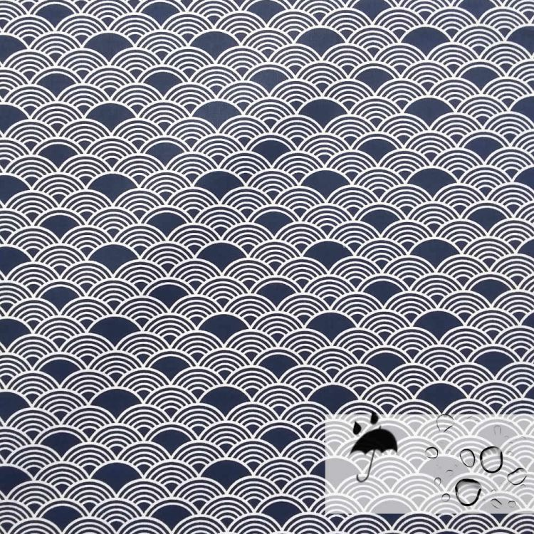 Coton 100% enduit fluide vague
