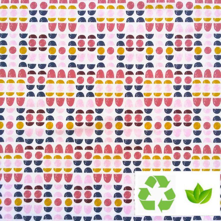Jersey coton BIO imprimé cercles