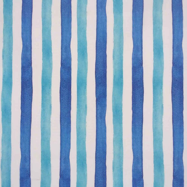 Toile d'extérieur rayures 2 bleus