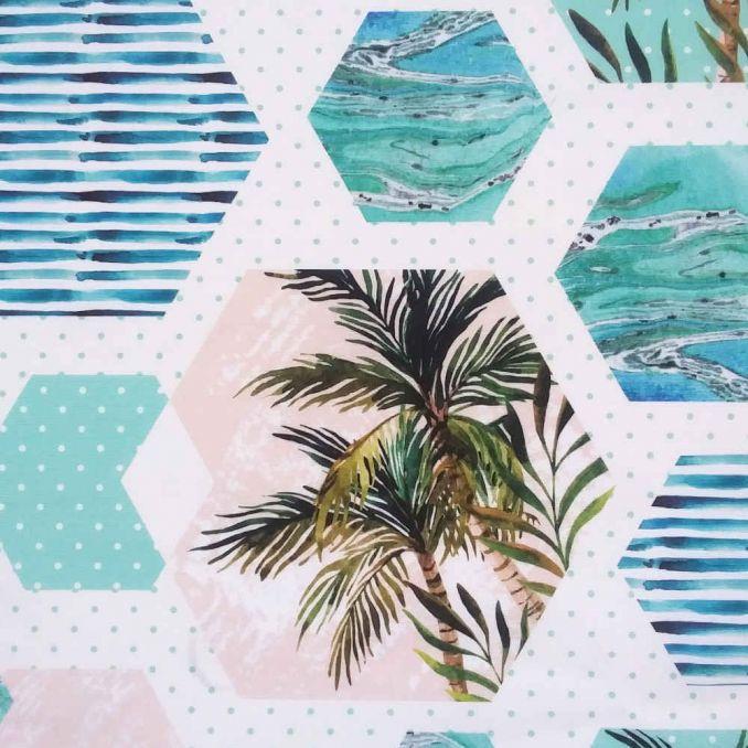 Toile d'extérieur palmiers