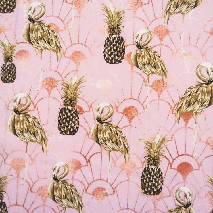 Toile d'extérieur ananas dorés