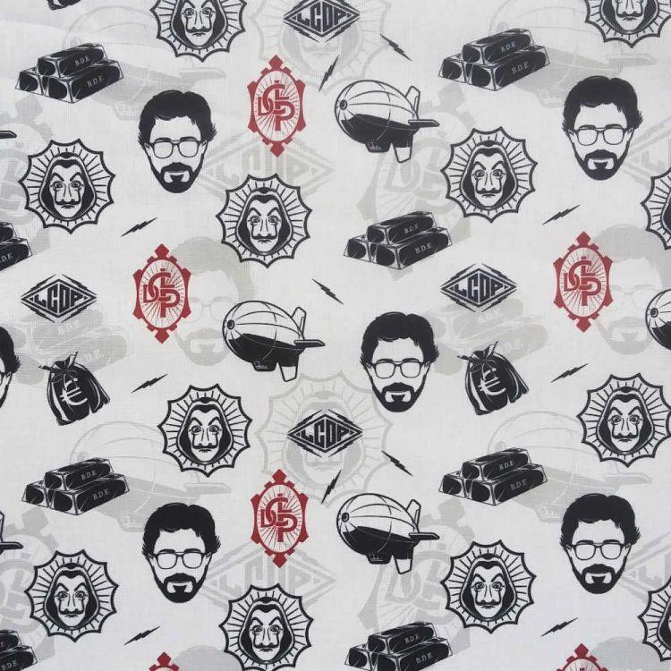 Coton imprimé casa de papel