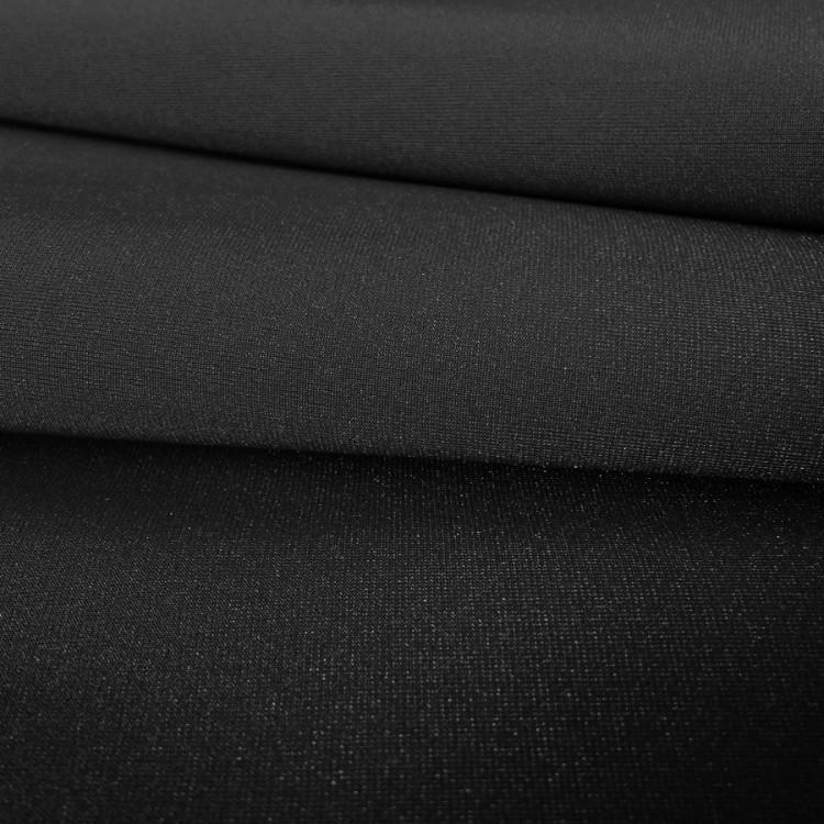 Lycra brillant noir au rouleau