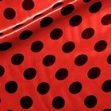 rouge pois noir