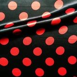 noir pois rouge